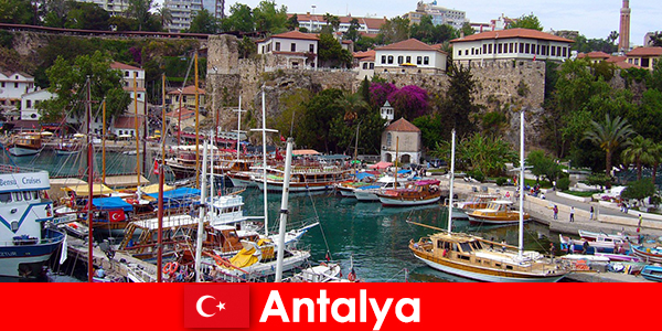Turkey Antalya holiday resort on the Mediterranean coast