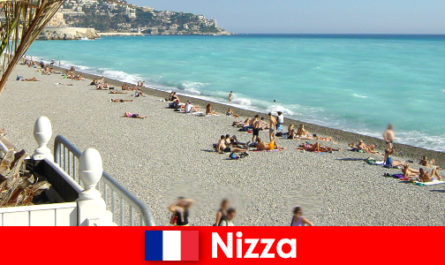 Nice beautiful beaches of the French Riviera