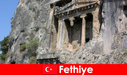 Fethiye an ancient city by the sea with many monuments