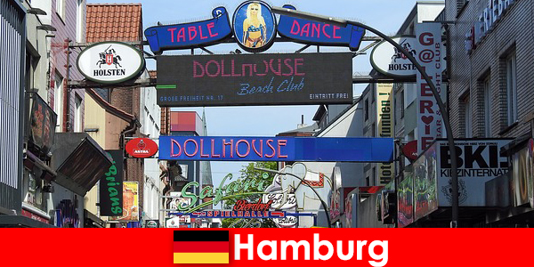 Hamburg Reeperbahn – nightlife brothels and escort service for sex tourism