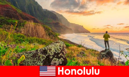 Honolulu is known for beaches, ocean, sunsets for wellness and relaxation vacations