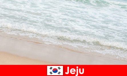 Jeju, with its fine sand and clear water, is an ideal place for a family vacation on the beach