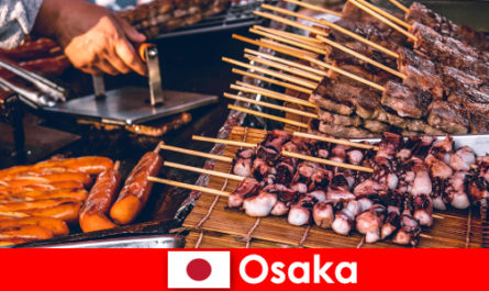 Osaka is the cuisine of Japan and a port of call for anyone looking for a vacation adventure