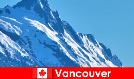 The city of Vancouver in Canada is the main destination for mountaineering tourism