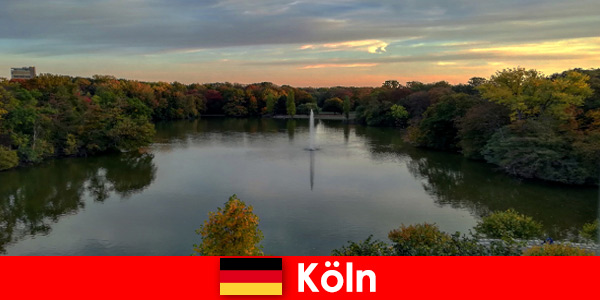 Nature travel through forest, mountain and lakes in nature parks of Cologne Germany