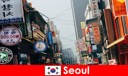 Seoul in Korea the exciting city of lights and advertisements for night tourists