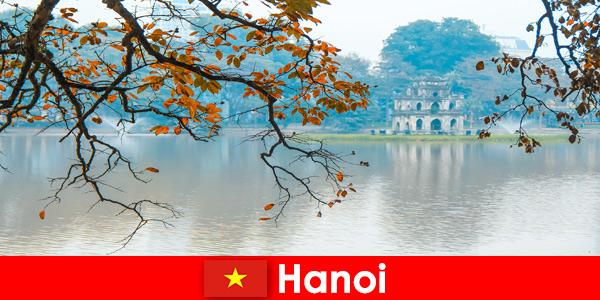 Hanoi Vietnam Jade Mountain Temple and Temple of Literature delight tourists