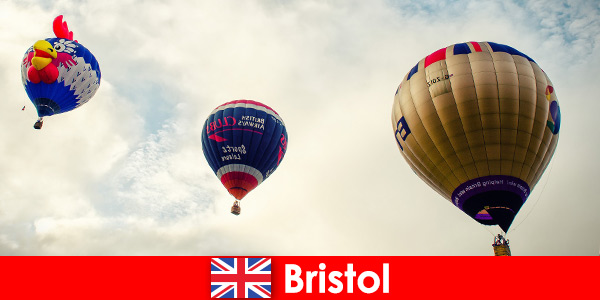 Holiday for brave tourists for balloon flights over Bristol England