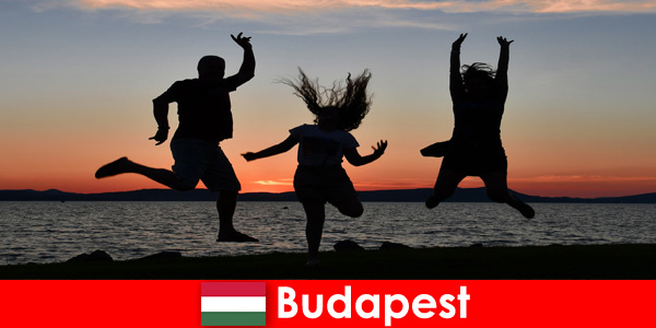Budapest Hungary for young party tourists with music and cheap drinks in bars and clubs