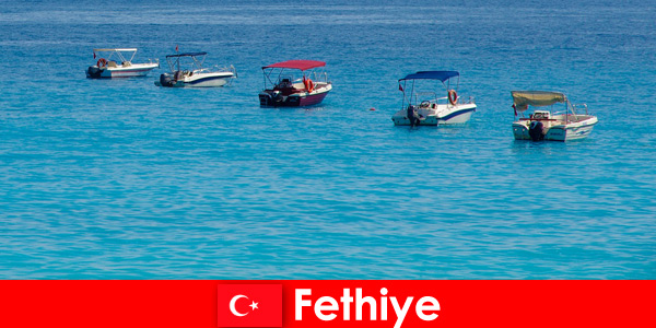 Turkey Blue Voyage and white beaches longingly await tourists in Fethiye for relaxation