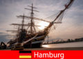Germany Disembarking in the port of Hamburg to the fish market for travel gourmets