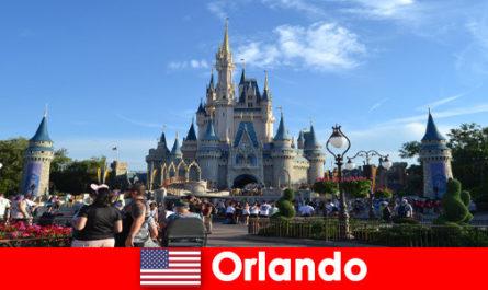 Family vacation with children at Disneyland Orlando United States