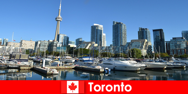 Toronto in Canada is a modern metropolis by the sea very popular with city tourists