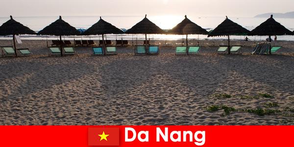 Luxury resorts on beautiful sandy beaches for vacationers in Da Nang Vietnam