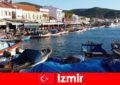 Active travelers commute between the city and the beach in Izmir Turkey