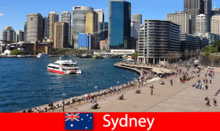 Panoramic views of the entire city of Sydney Australia for visitors from all over the world