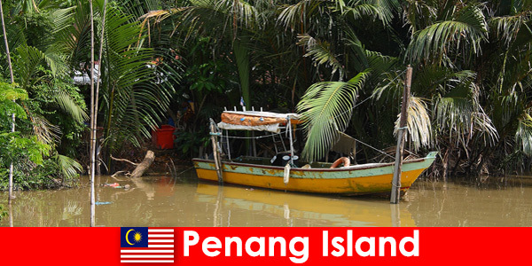 Long distance travel for hikers through the jungle of Penang Island Malaysia