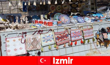 Strolling experience for strangers in the bazaar areas of Izmir Turkey