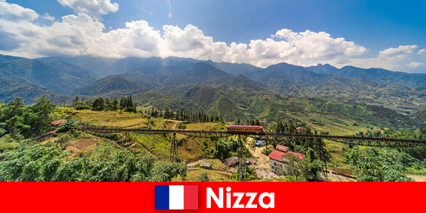 By train through the villages and mountains in the hinterland of Nice France