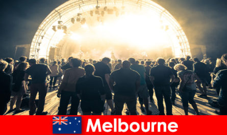 Strangers attend the free open air concerts in Melbourne Australia every year