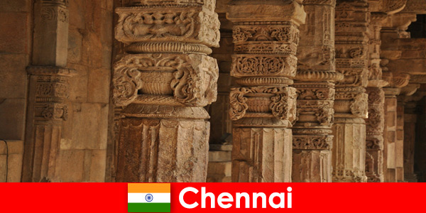 Foreigners visit Chennai India to see the magnificent colorful temples