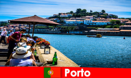 Destination for short vacationers to the great fish restaurants at the port in Porto Portugal