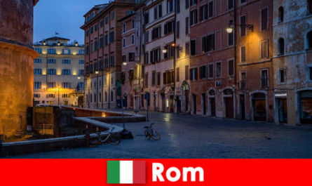 Short trip for tourists in autumn to Rome Italy to the most beautiful sights